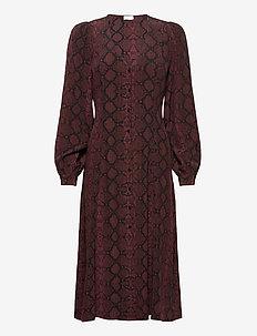 2ND Marcia Snake - everyday dresses - chocolate plum