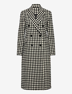 2ND Duster Check - wollen jassen - black