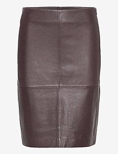2ND Cecilia - midi skirts - chocolate plum
