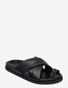 2ND Henri - platte sandalen - black