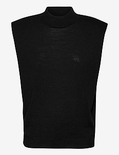 2ND Sonny Thinktwice - knitted vests - black