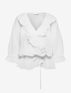2ND Maureen ThinkTwice - long sleeved blouses - bright white
