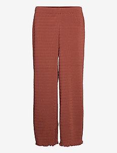 2ND Elmira - wide leg trousers - henna