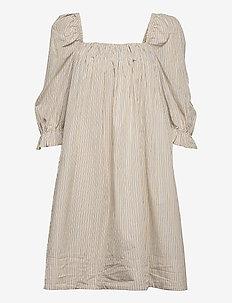 2ND Tiana Stripe - midi dresses - taos taupe