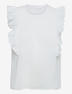 2ND Martina ThinkTwice - sleeveless blouses - bright white
