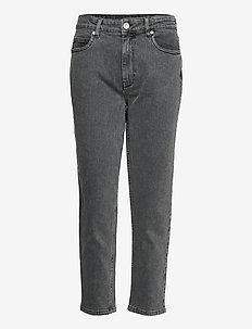 2ND Farah ThinkTwice - mom jeans - un black denim