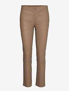 2ND Leya - slim fit bukser - sepia tint