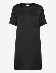 2ND Moon - Fluid Satin - sukienki na codzień - jet black