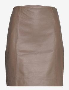 2ND Electra - Refined Leather - korta kjolar - falcon