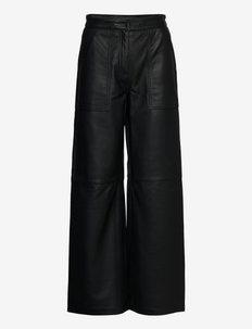 2ND Rusty - Autumn Leather - lederhosen - jet black