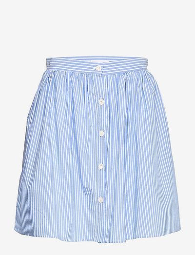 2ND Simona Stripe - midi skirts - cornflower blue