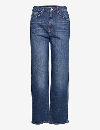 2ND Raven Thinktwice - straight jeans - mid blue