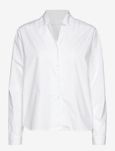 2ND Beth TT - Heavy Poplin - jeansblouses - bright white