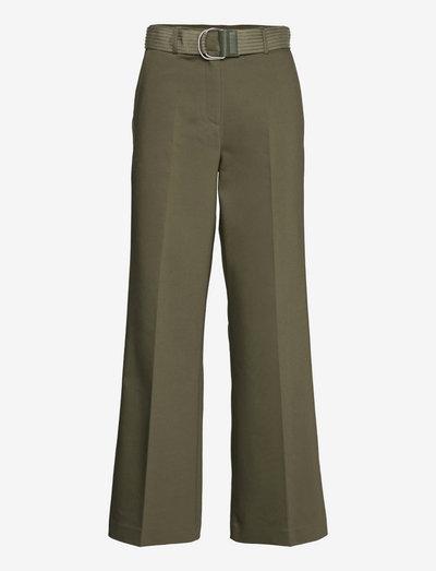 2ND Leonardo - Daily Viscose Mix - bukser med brede ben - olive night