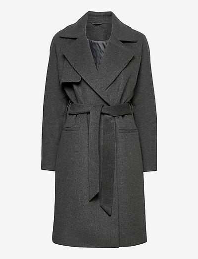 2ND Livia - Classic Wool - vinterfrakker - dark grey mel.