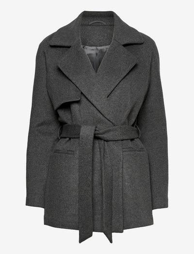 2ND Lana - Classic Wool - uldjakker - dark grey mel.