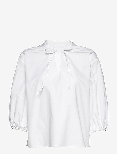 2ND Beech TT - Crispy Poplin - long sleeved blouses - bright white