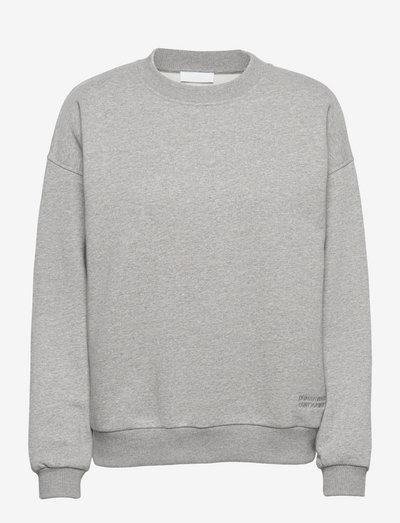 2ND Sweat TT Organic Brushed Sweat - sweatshirts & hoodies - medium grey mel.