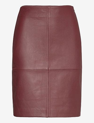 2ND Cecilia - Classic Leather - nederdele i læder - hot chocolate