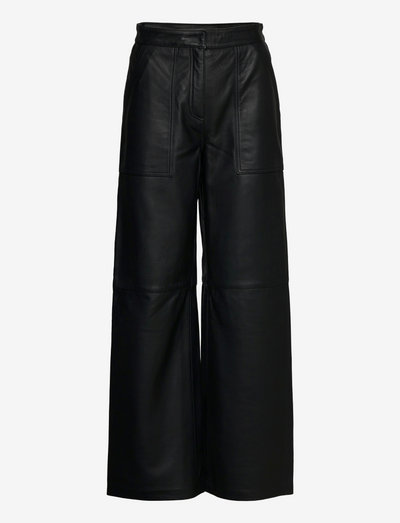 2ND Rusty - Autumn Leather - leather trousers - jet black