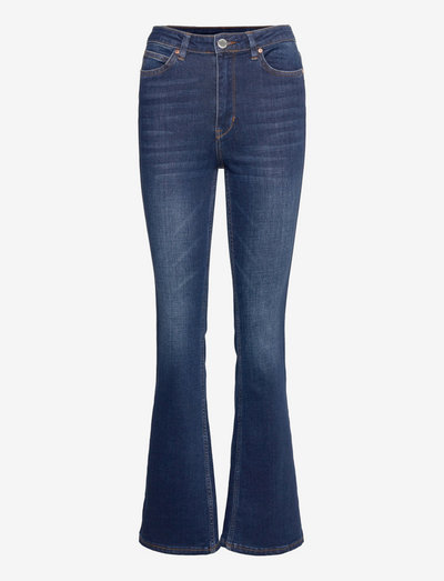 2ND Fiona TT - flared jeans - mid blue