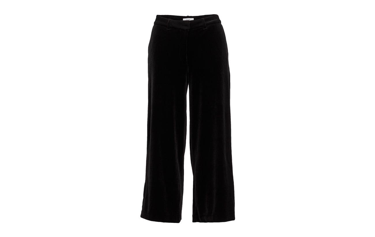 Crop Eloise Velvet 100 103 Velvet Pants Polyester Black One 2nd w6qH4tAH