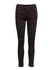 Nicole 006 Zip, Moon Black Satin, Jeans - MOON BLACK SATIN