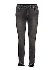 Nicole 834 Crop, Raw Trashed Grey, Jeans - TRASHED GREY