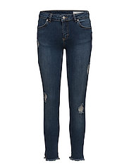 Nicole 893 Crop  Jeans - RAW INDIGO FLEX SPLIT