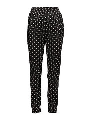 Miley 448 Black Polka, Pants - BLACK POLKA