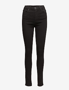 Amy 002 Satin Black, Jeans - SATIN BLACK