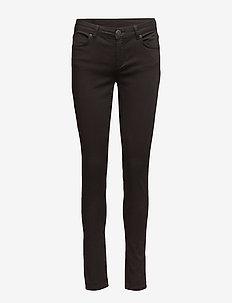 Nicole 006 Moon Black Satin, Jeans - MOON BLACK SATIN