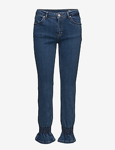 Nicole 829 Crop, Blue Clarity Smock, Jeans - BLUE CLARITY SMOCK
