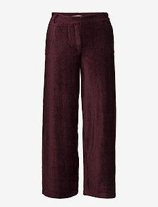 Eloise 107 Crop Cordovan Pants - CORDOVAN CORDUROY