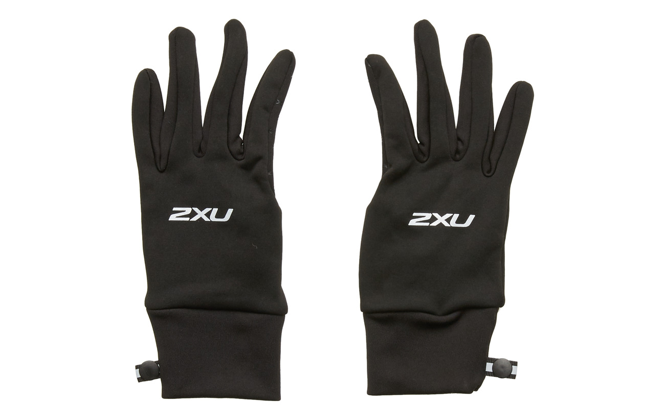 2XU Run Glove - BLACK/SILVER