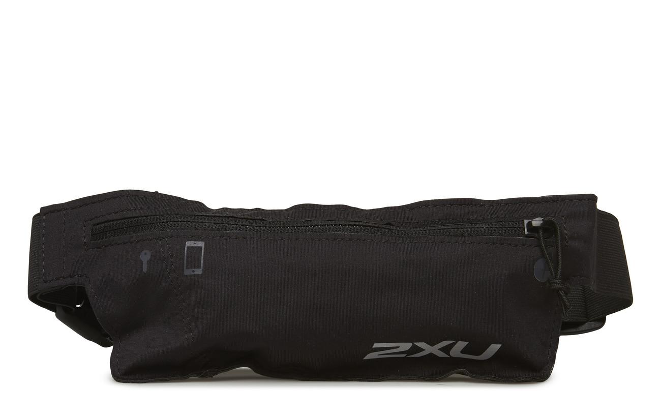 2XU Run Belt-U - BLACK/BLACK