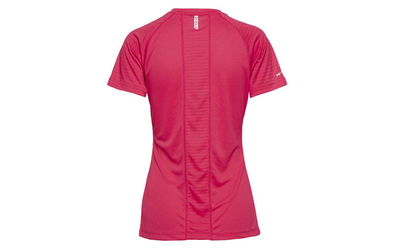 Pink s 2xu Polyester Tee Pink X S virtual Virtual 100 vent 8rnw8gZ1