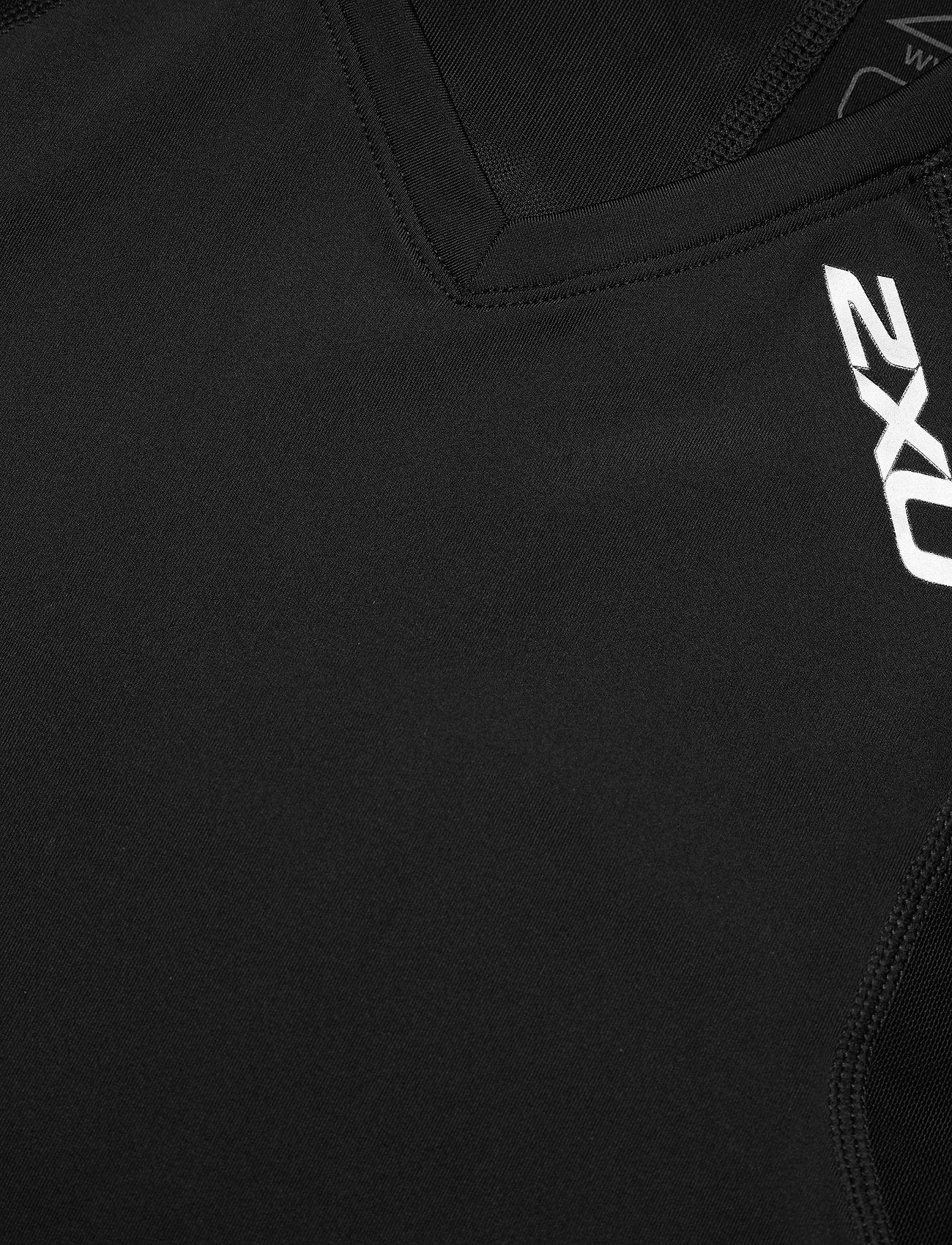 2xu Comp Sleveless Top-m - T-shirts Black/black
