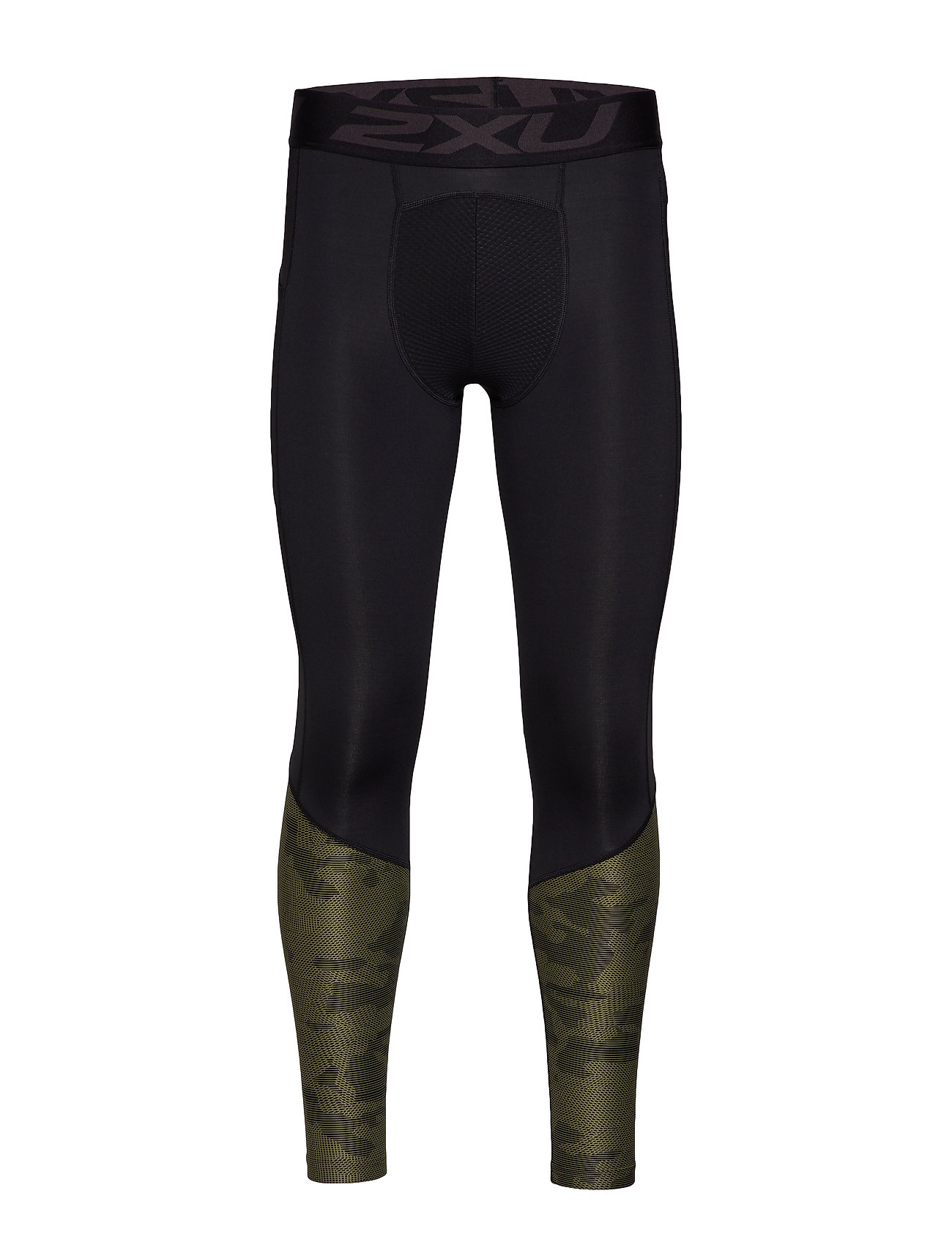 2XU Accel Comp Tight w Storage-M - BLACK/LINEAR CAMO KHAKI