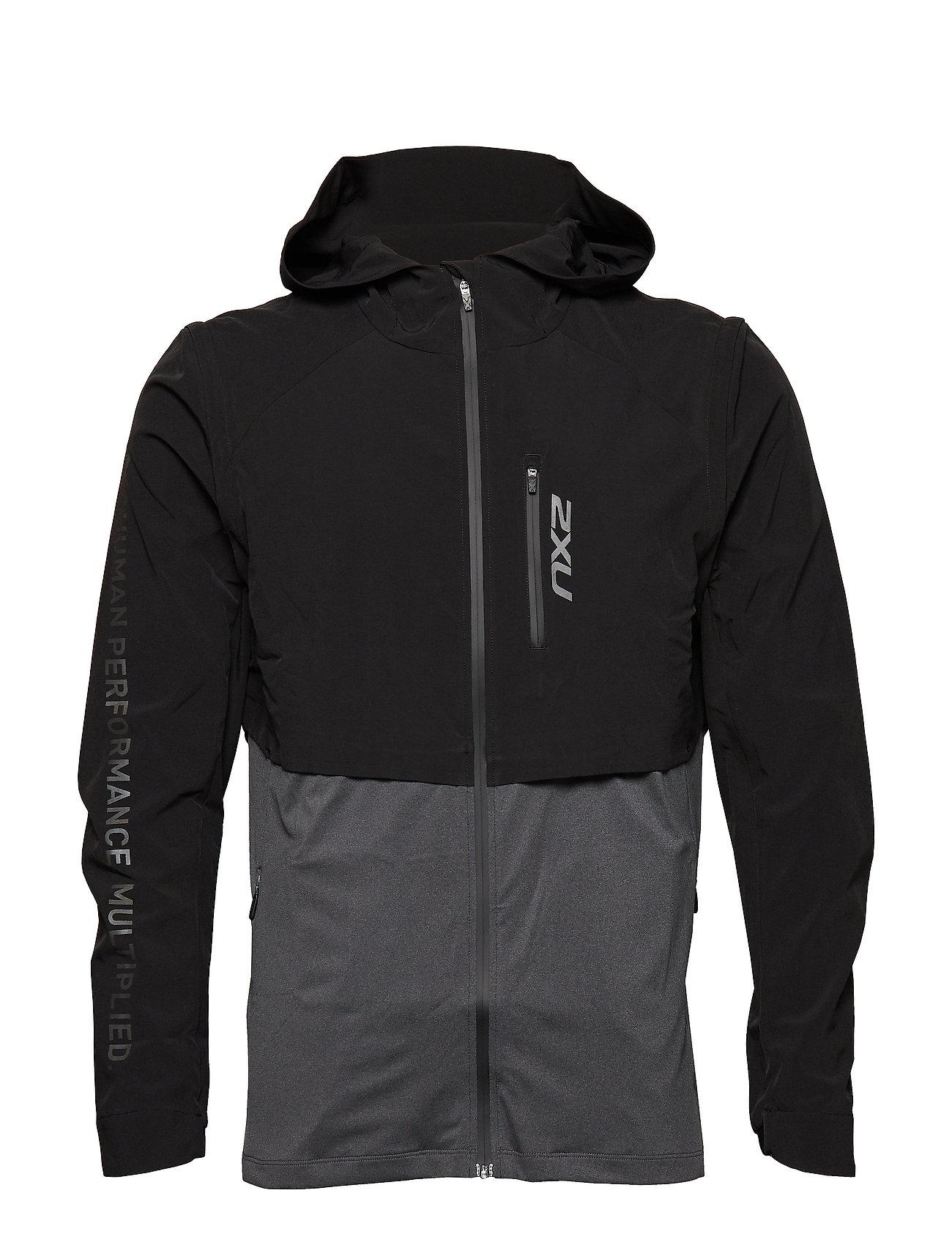 2XU GHST 2 In 1 Jacket-M - BLACK/BLACK MARLE