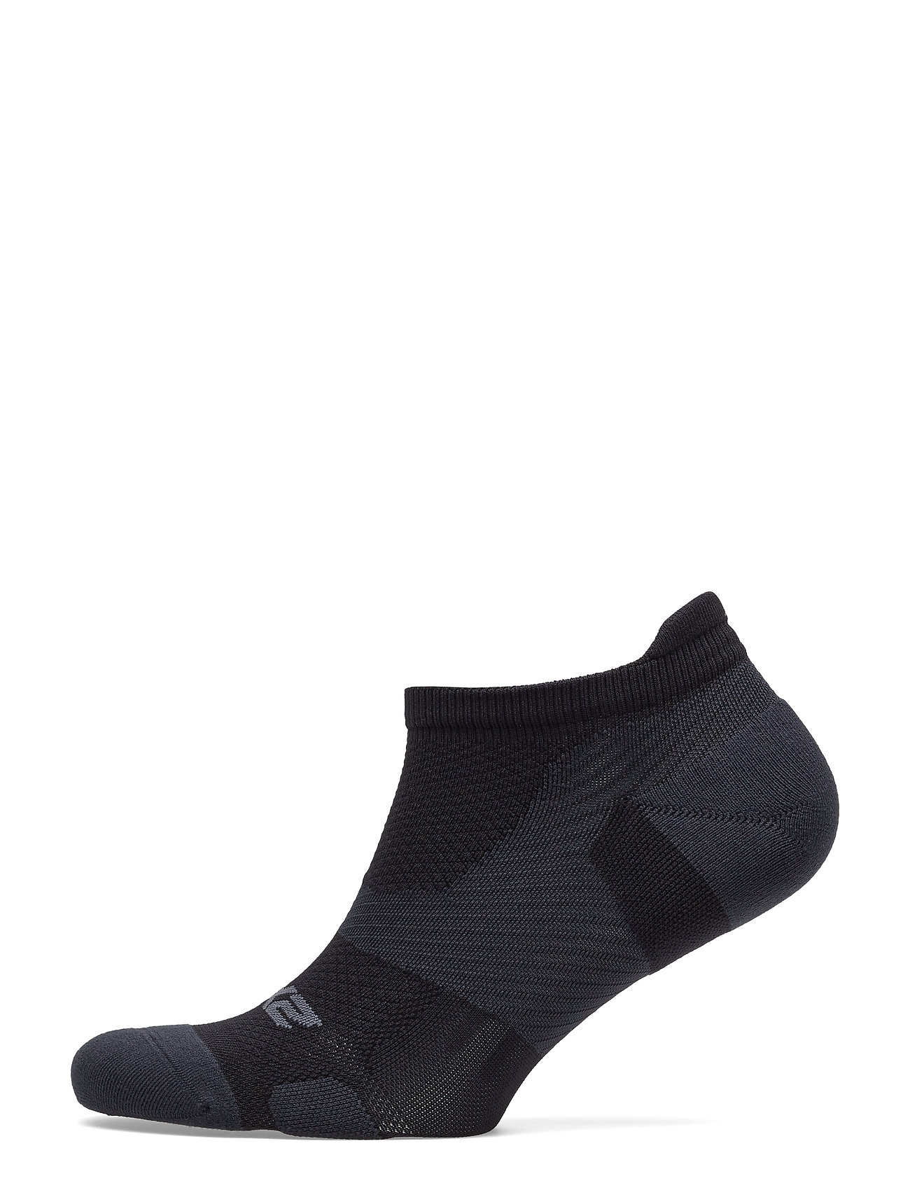 2XU Vectr LightCushion NoShow Sock-U - BLACK/TITANIUM