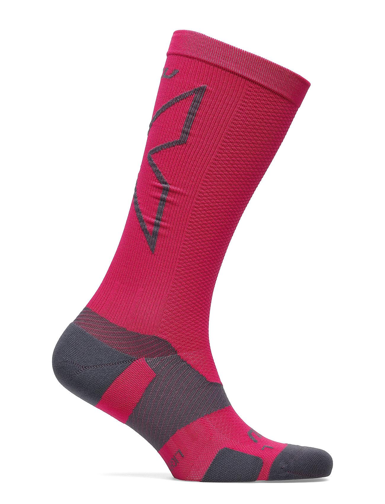 2XU - VECTR LIGHT CUSHION FULL LENG - sokker - hot pink/grey - 0