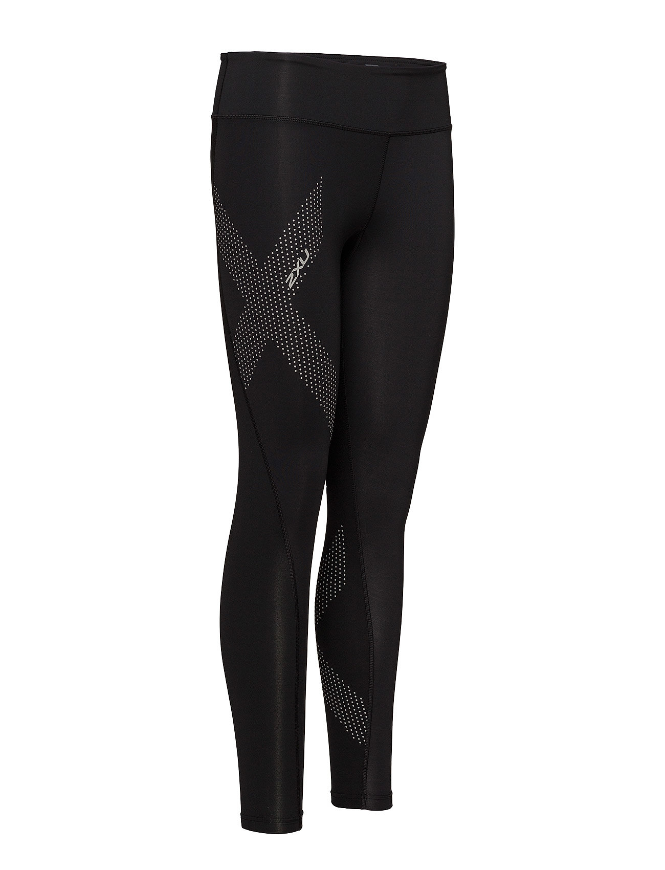 2XU Motion Mid-rise Compression T (Black/dotted Reflective Logo), 639.20