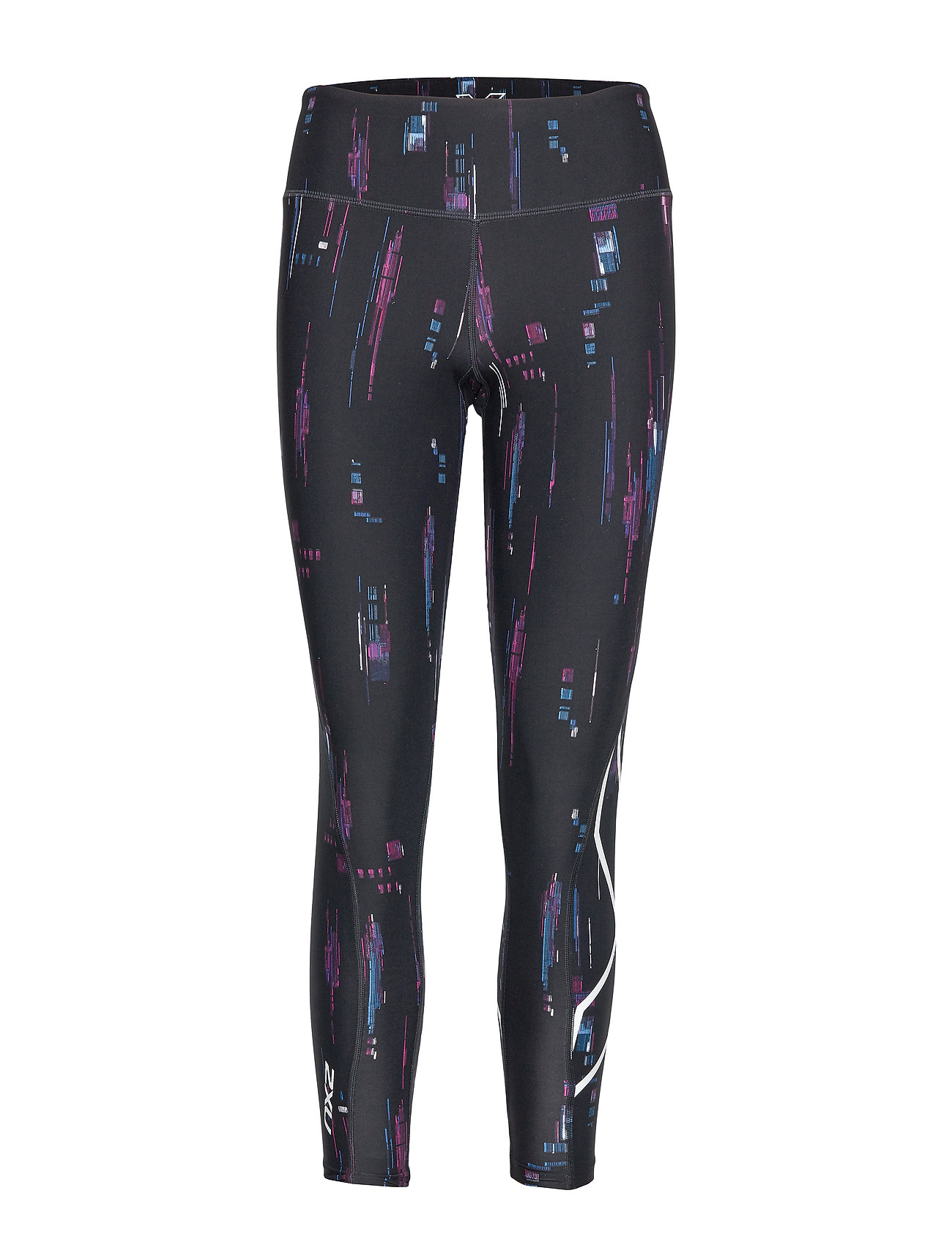 2XU Print Mid-Rise Comp Tights-W - FREQUENCY BOYSENBERRY/WHITE
