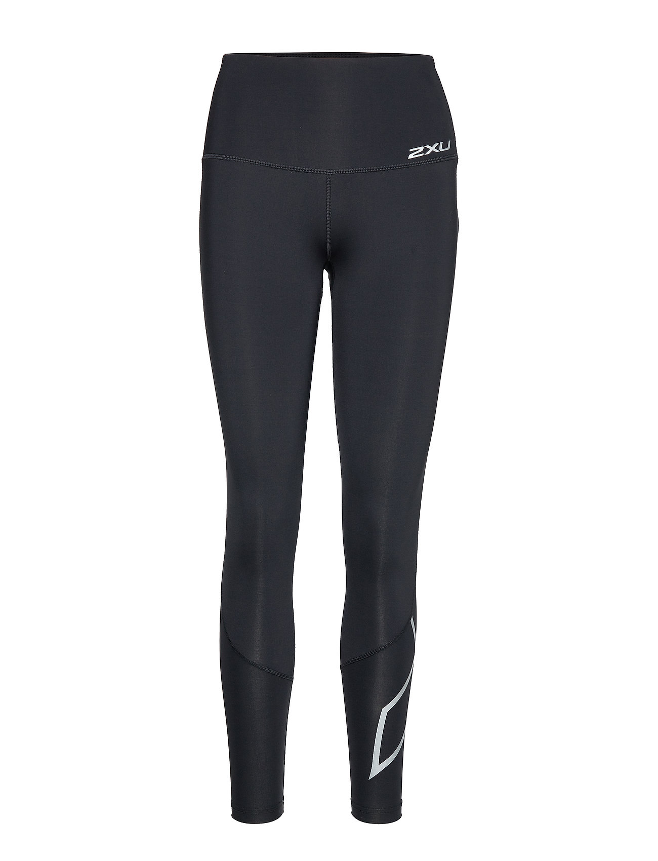 2XU Hi-Rise Compression Tights-W - BLACK/SILVER X LOGO