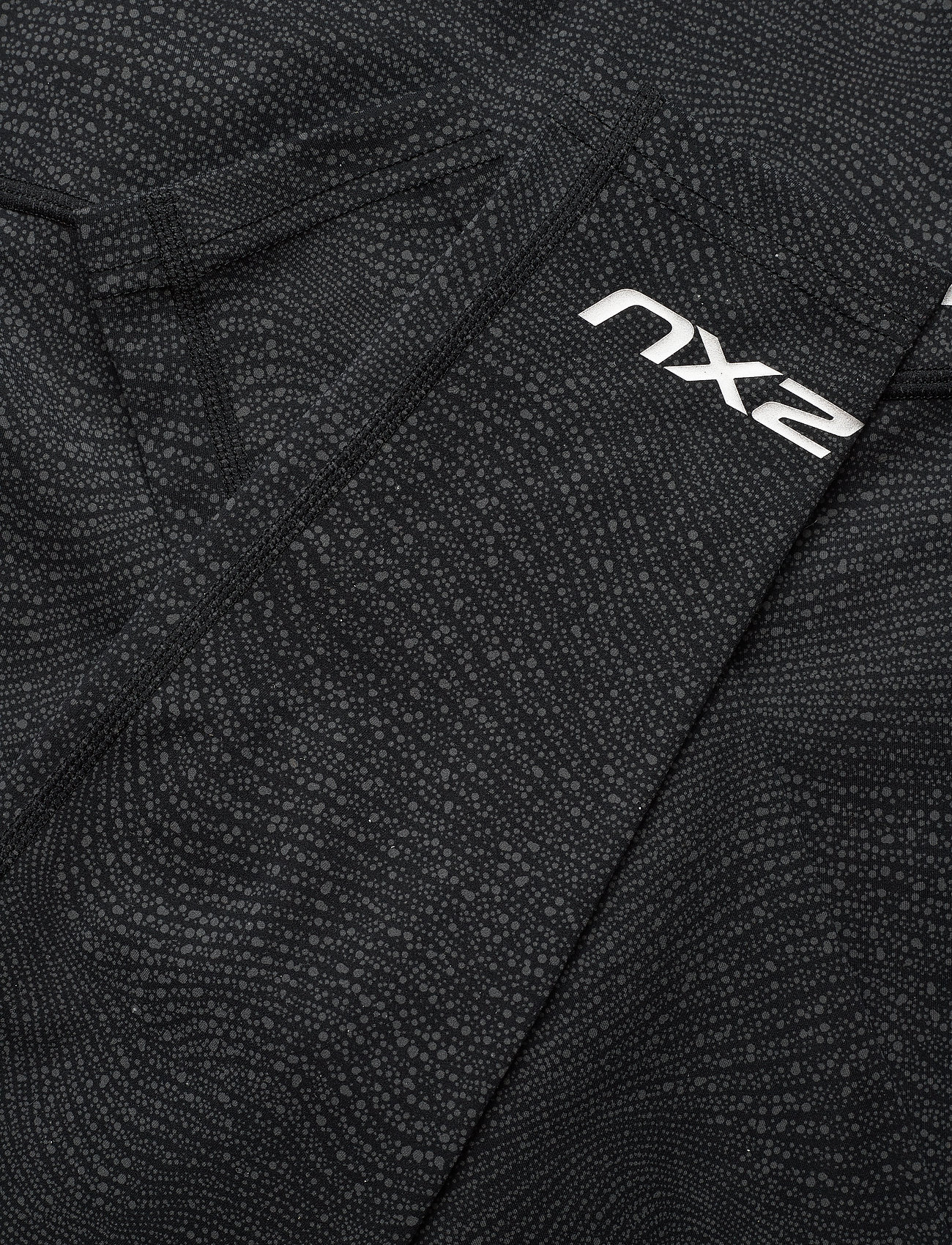 2XU Fitness Hi-rise Comp Tights (Wave Spot Charcoal/silver), 399.50