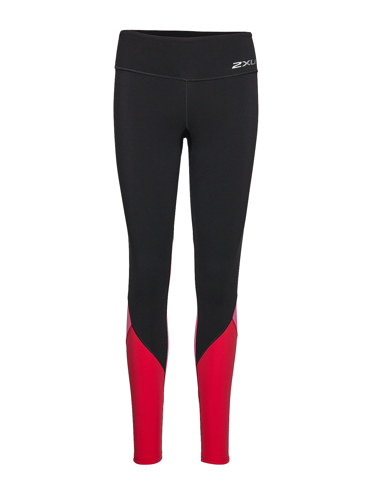 2XU Fitness Stride Comp Tights-W - BLACK/FUCHSIA LIPSTICK RED