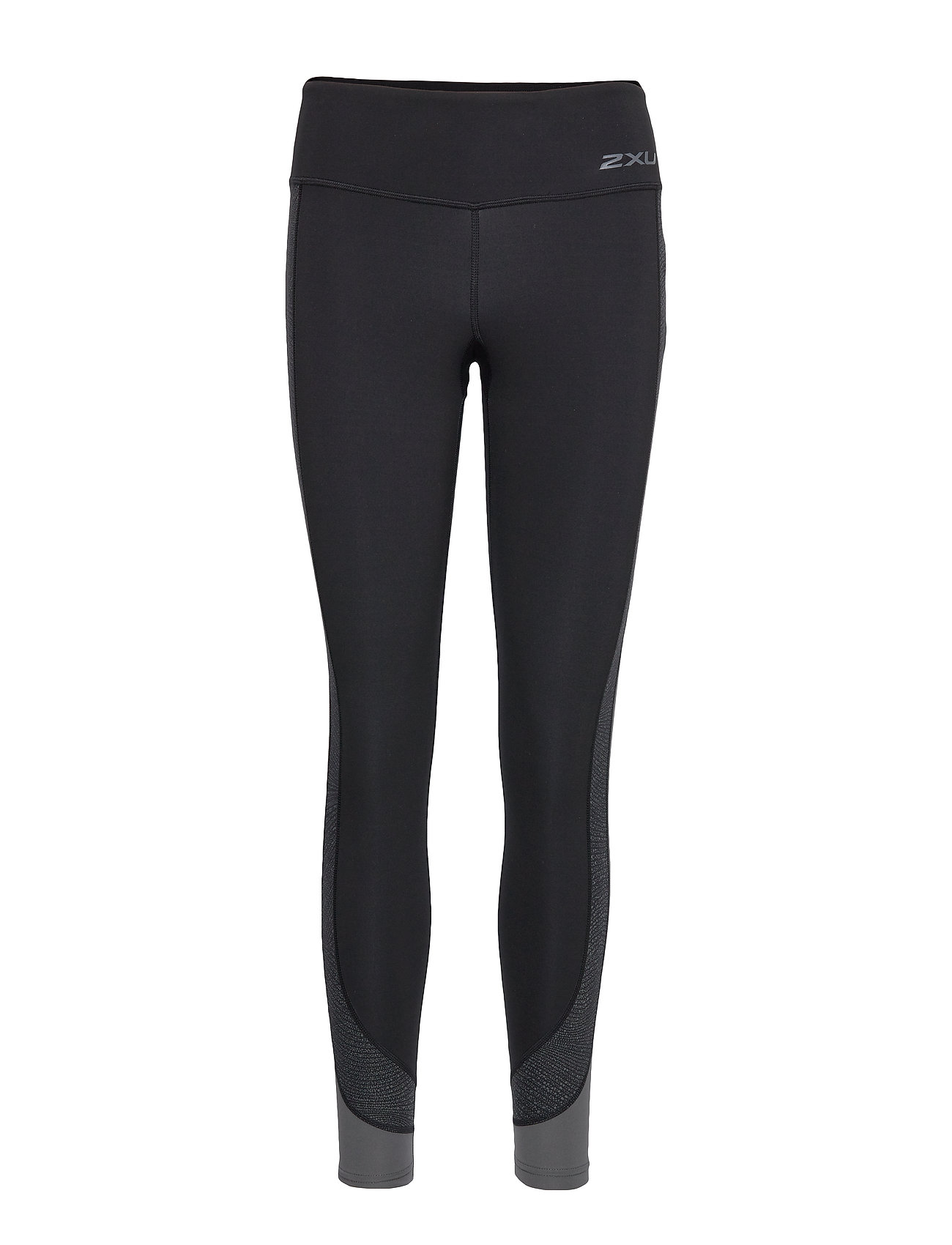 2XU Fitness Mid-Rise Line Up Tight - BLACK/WAVE SPOT CHARCOAL