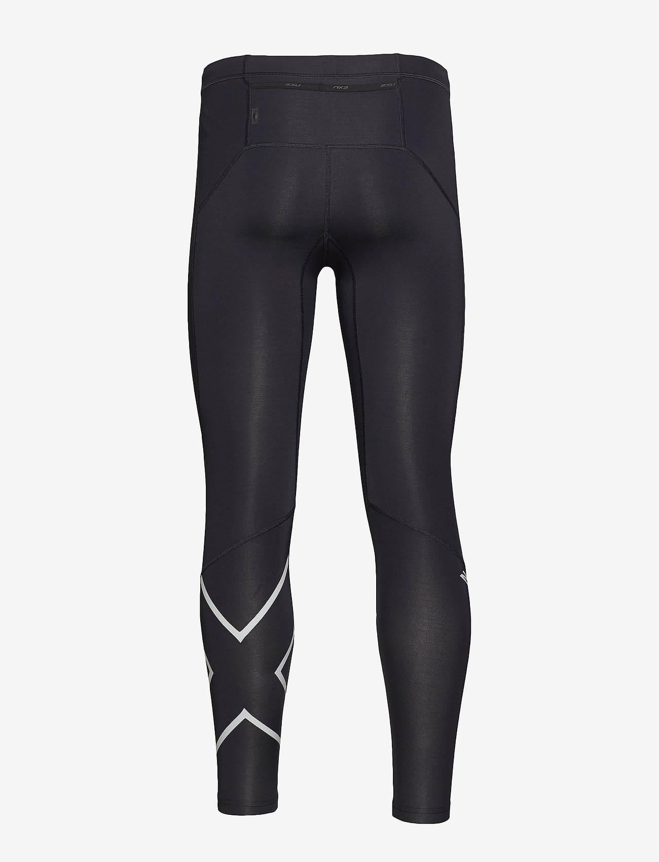 2XU - Run Comp Tights w/Back Storage-M - løbe- og træningstights - black/silver reflective - 1
