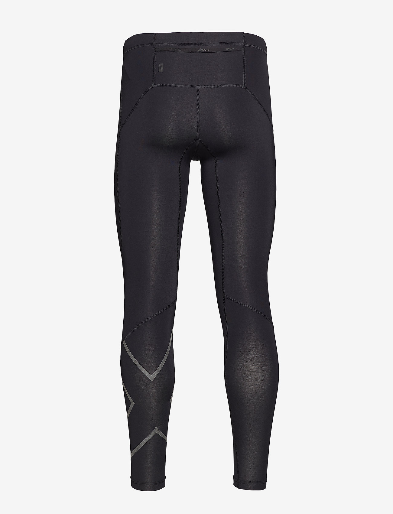 2XU - Run Comp Tights w/Back Storage-M - juoksu- & treenitrikoot - black/black reflective